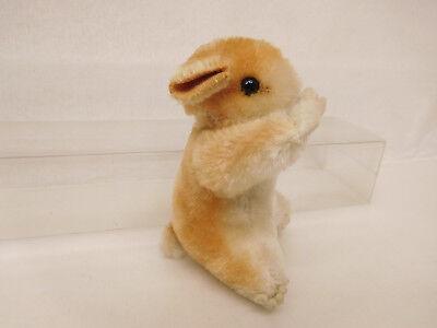 MES-52286Älterer Steiff Hamster H:ca.9cm mit Holzwollstopfung mit Knopf, 5