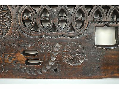 16/17th Century Antique Carved Wood Architectural Decorative Panel 10