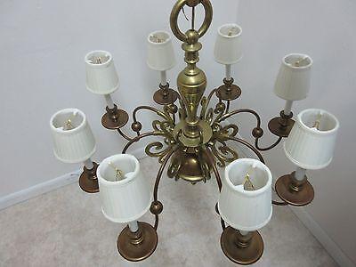 Vintage Brass Quality Williamsburg Federal Hanging Chandelier 5