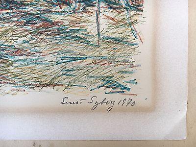 Ernst Syberg 1906-1981 Windiger Tag An Der Küste - Lithografie 1970 9