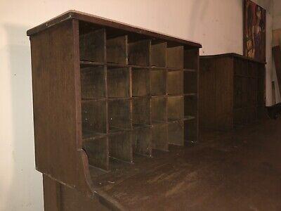 Antique Mail Sorter Post Office Desk 10