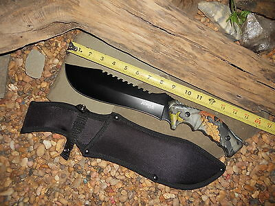 Knife/Bowie/Cleaver/Machete/Full tang/5MM/Hunting/Camping/Survival/HEAVY DUTY/FC 8