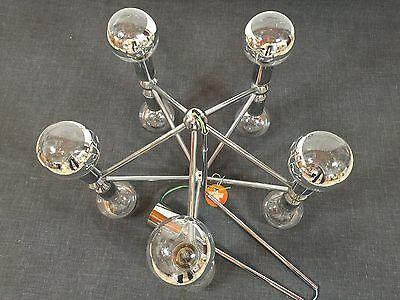 KINKELDEY Space Age ATOMIC Chandelier Pendant Lamp Fermigier Era Verre Lumiere 6 • CAD $1,864.80
