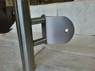 Edelstahl Gelander Pfosten Wange Treppe Balkon Mit Glashalter Pos 1