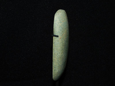 Pre-Columbian Jade Ceremonial Pendant, Custom Stand, Authentic, Very Large 2