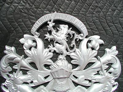 "Scottish Rampant Unicorn with Lion, Driveway Gate Crest,Cast Aluminum,23""x 19"" 12"