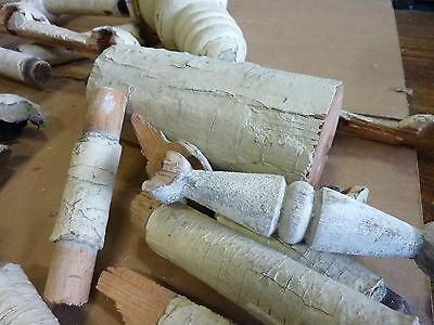 LOT of salvaged STICK & BALL victorian porch fragment pieces c1880 vintage