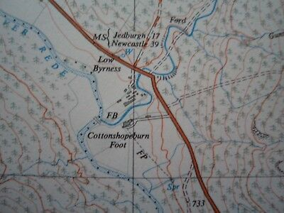 """Ordnance Survey 2.5"""" Map NT70 Catcleugh 1954 Leithope Forest Bryness Roman camps 4"""