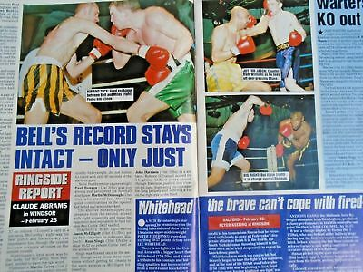 BOXING NEWS - 27 feb 1998 - eubank, mcdonnell, holyfield, lewis free p&p to uk 6
