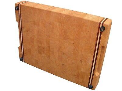 Wooden, Handmade, Cutting Board End Grain with Feet, Butcher Block, Cheese Board 2