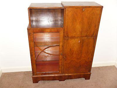 Art deco walnut 1930s  stylish secretaire 7 • £165.00
