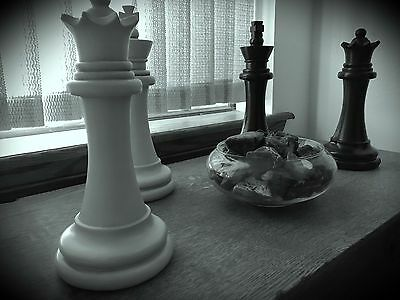 2 Of 7 Chess Pieces Statue King And Queen Over 11 Tall Home Decor Art