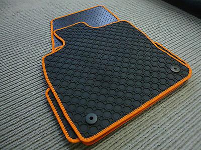 Original Lengenfelder Fußmatten Für Smart Roadster 452 Rand Orange Neu $$$