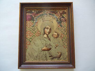 Heinrich Icono Del Año 1984 Madre de Dios Von Gietrzwald + Certificado N º 681+ 2
