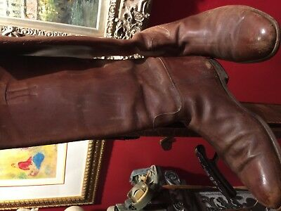 Wwi Wwii Us Cavalry Officer Shaft Lace Riding Boots Excellent Condition Size 10 3