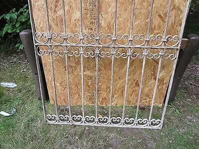 Antique Victorian Iron Gate Window Garden Fence Architectural Salvage Door T 4
