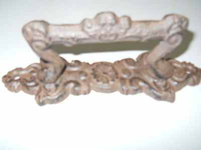 2 Large Cast Iron Antique Style FANCY Barn Handle Gate Pull Shed Door Handles #4 4