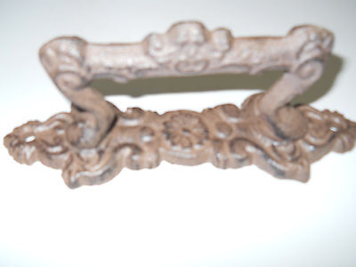 3 Large Cast Iron Antique Style FANCY Barn Handle Gate Pull Shed Door Handles #4 4