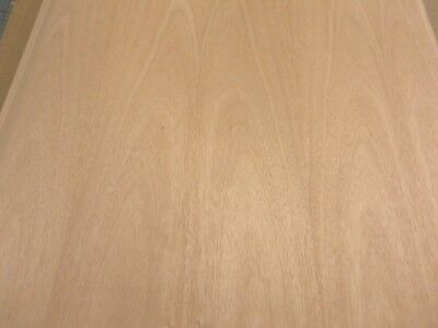 "Okuome Mahogany wood veneer 24/"" x 48/"" with paper backer 1//32/"" thickness flexible"