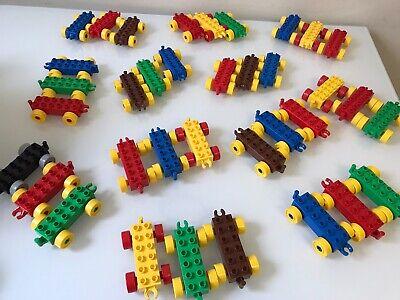 Various Colors 3 Lego Duplo Train Bases