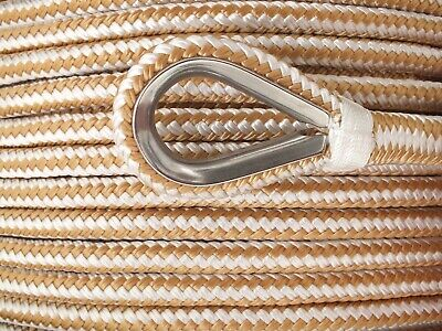 12mm x 100M Double Braid Nylon Anchor Rope, Super Strong, Great for Drum Winches 3