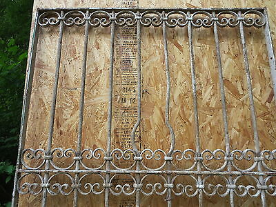 Antique Victorian Iron Gate Window Garden Fence Architectural Salvage Door T