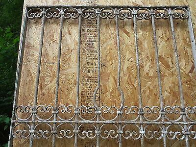 Antique Victorian Iron Gate Window Garden Fence Architectural Salvage Door T 5