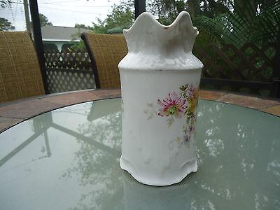 Vintage Porcelain German CT Floral Pitcher Signed & Numbered 4