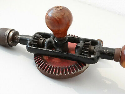 Vintage Antike Handbohrmaschine Holz Bohrer Bohrmaschine Handbohrer 7
