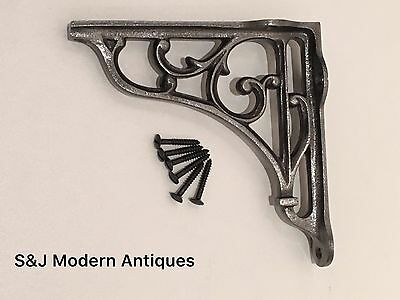 Antique Vintage Shelf Bracket Cast Iron Metal Victorian Design Heavy Duty 5 Inch 11 • £13.95