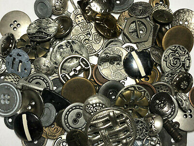 50 RARE MIXED LOT Of Metal Buttons OLD-VINTAGE /& NEW