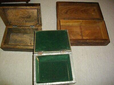 tres joyeros de madera y metal (( vintags))  21- 16 - y 13 ctms 3