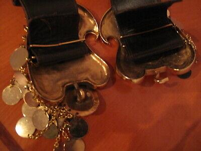 Rare Tribal Belt Buckle Bulgarian Balkan Pafti With Bonwit Teller Leather 8