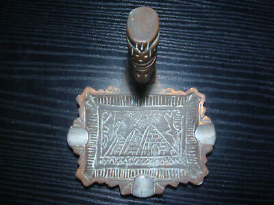 Ancient Egyptian Queen Nefertiti - Bronze bust on ashtray base 4