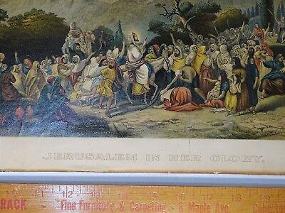 SUPER RARE Lithograph Print- Jerusalem 1903 by Palestine Art League Buffalo NY 3