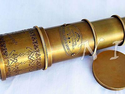 "Antique Maritime Telescope 18"" Marine Nautical Vintage Brass Spyglass Scope Gift 5"