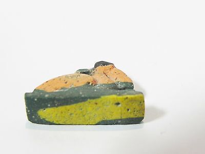 Zurqieh - Q12- Ancient Egypt.  Mosaic Glass Ibis Amulet. 300 B.c - 200 A.d 3