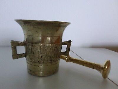 Antiker Apothekenmörser mit Pistill - BRONZE- 19.Jahrhundert / BIEDERMEIER 6