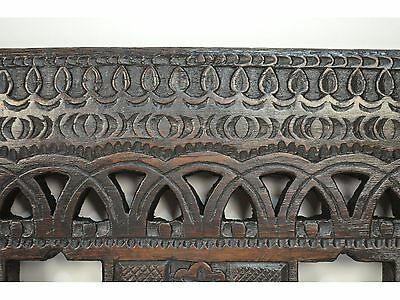 16/17th Century Antique Carved Wood Architectural Decorative Panel 12