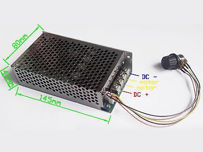 100A 3000W Programable Reversible DC Motor Speed Controller PWM Regulator O0L4