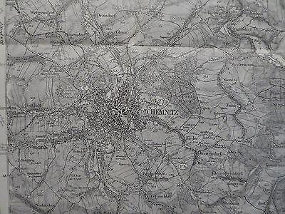 Karte des Deutschen Reiches 442 Chemnitz, Oederan, Hainichen, Mittweida, 1920