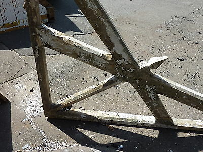 "LARGE single railroad station DEPOT CORBEL bracket brace 94 x 63 x 3.75"" ~ AS IS 10"