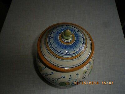 Fayence Apothekergefäß Dose Deckeldose Tabakdose gemarkt signiert 1898 !!! 8