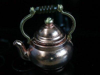 1:12 Scale Copper Kettle Tumdee Dolls House Kitchen Drink Water Accessory L67