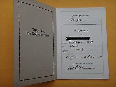 Mitgliedsbuch Freiwillige Feuerwehr 1934, sehr selten !!!!! 2