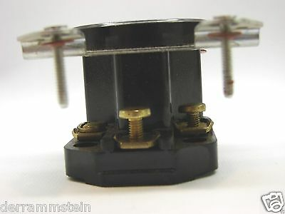 Vintage GE 4131-1 3-Wire Flush Dryer Outlet In Box 250V 30A Brown Plastics b98 5
