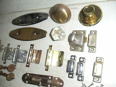 Lot Of Old Vintage Misc. Door Knobs Hinges Latches Pulls Hardware 4