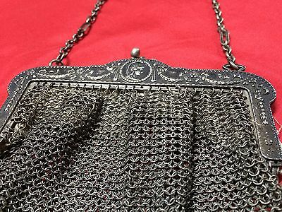 Antique Greek Pewter Womens Purse Alpacca Handbag Ladies Greece Grecia Peltro 8