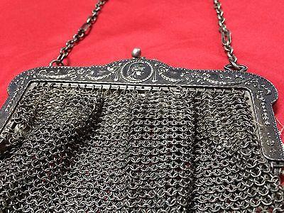 Antique Greek Pewter Womens Purse Alpacca Handbag Ladies Greece Grecia Peltro 8
