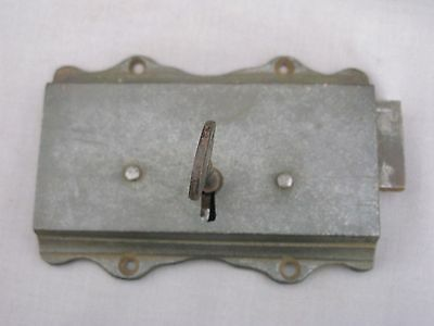 A 19th Century working Rim Lock with key - possibly early 7